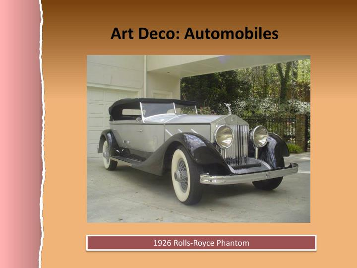 Art Deco: Automobiles