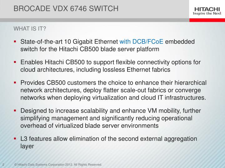 Brocade vdx 6746 switch