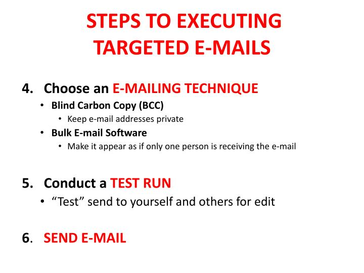 STEPS TO EXECUTING