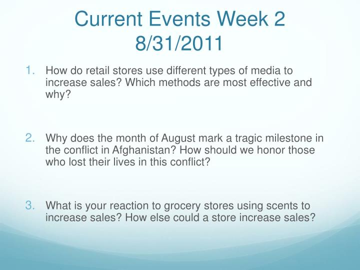 Current events week 2 8 31 2011