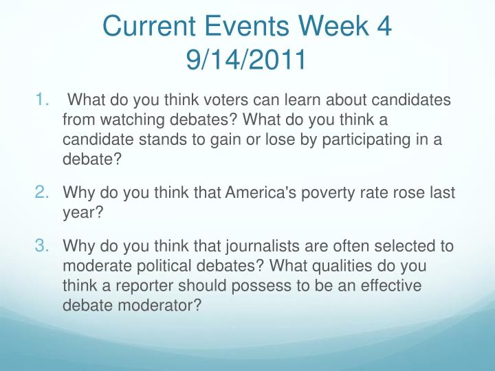 Current Events Week 4