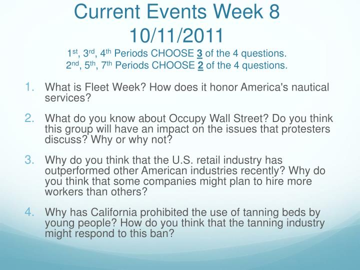 Current Events Week 8