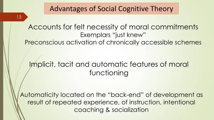 Advantages of Social Cognitive Theory