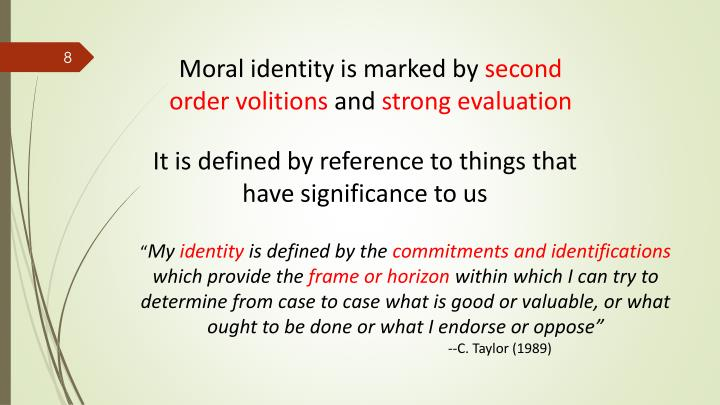 Moral identity is marked by