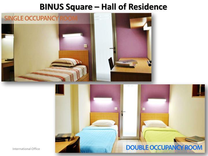 BINUS Square – Hall of Residence