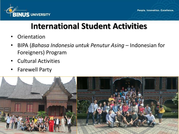 International Student Activities