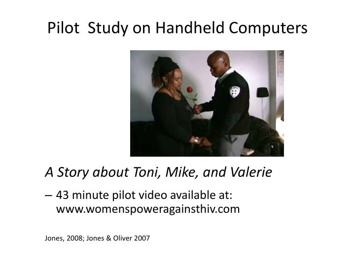 Pilot  Study on Handheld Computers