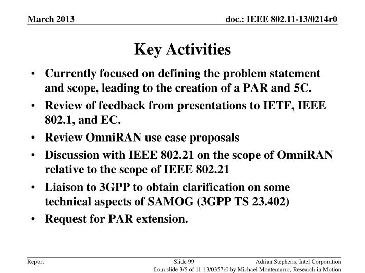 Key Activities