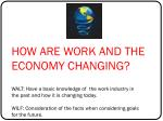how are work and the economy changing