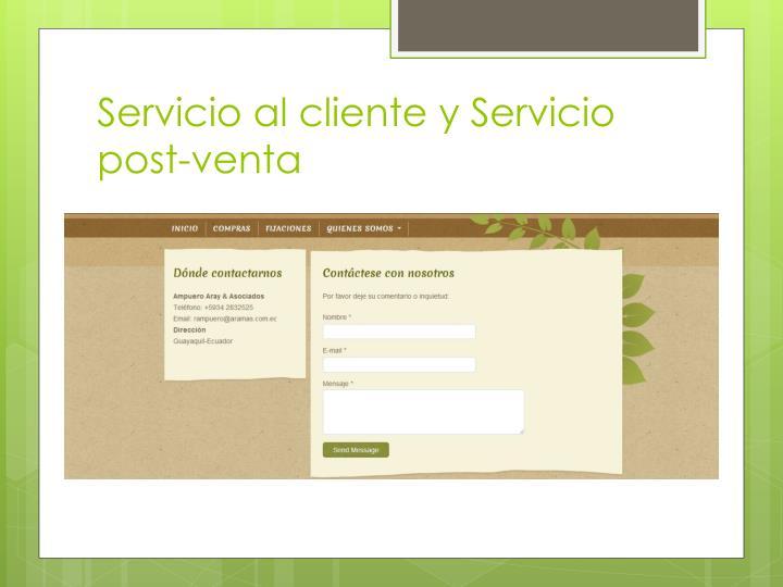 Servicio al cliente y Servicio post-venta