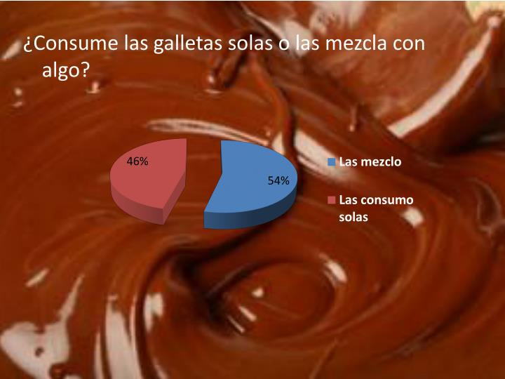 ¿Consume las galletas solas o las mezcla con algo?