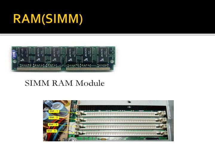 RAM(SIMM)