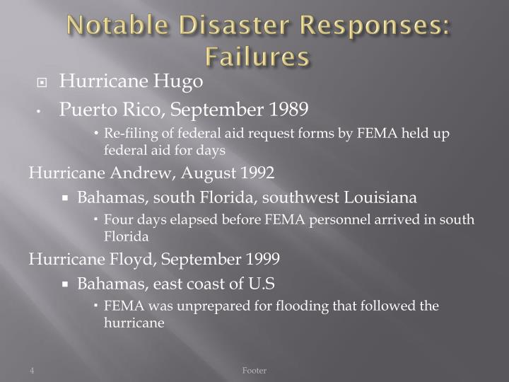 Notable Disaster Responses: