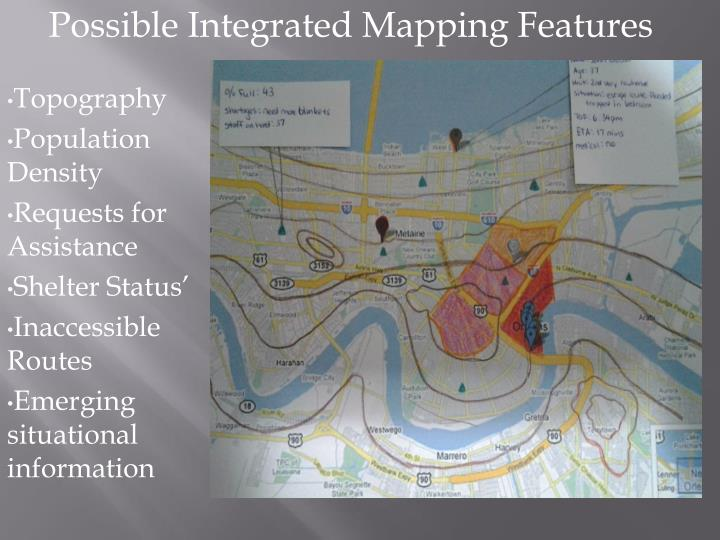Possible Integrated Mapping Features