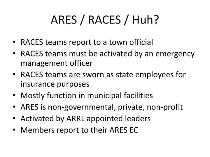 ARES / RACES / Huh?