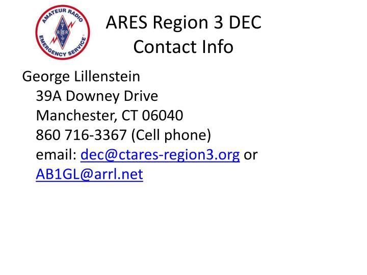 ARES Region 3 DEC
