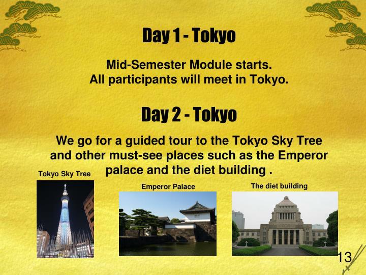 Day 1 - Tokyo