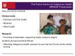 the poche centre for indigenous health mirage presentation3