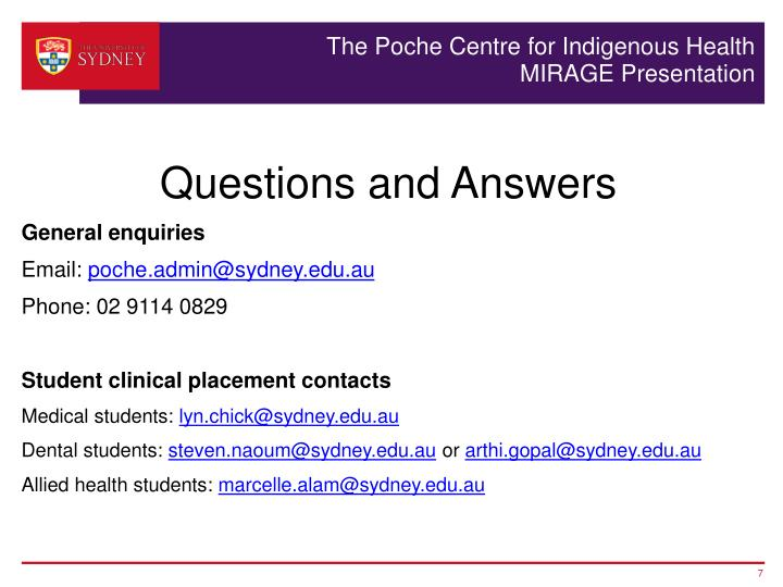 The Poche Centre for Indigenous Health