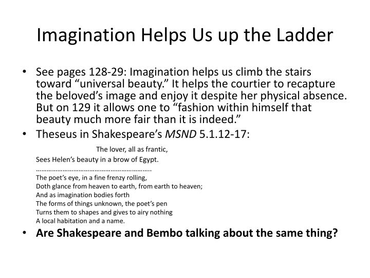 Imagination Helps Us up the Ladder