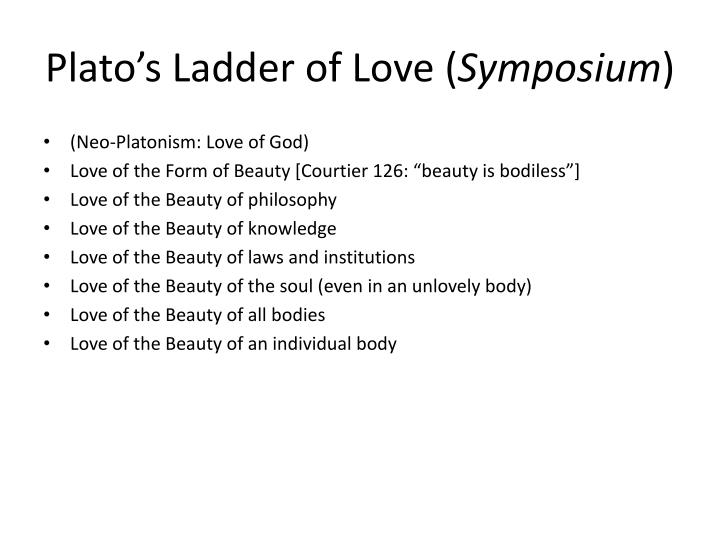 Plato's Ladder of Love (