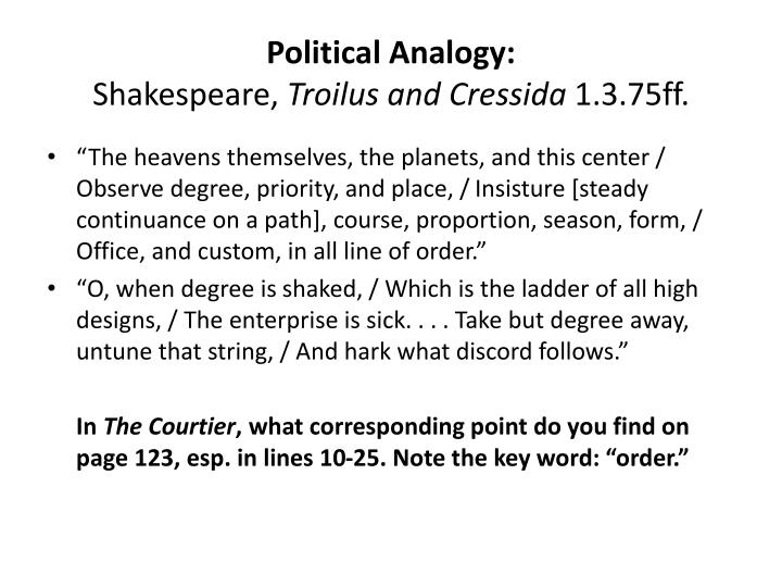 Political Analogy: