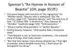 spenser s an hymne in honovr of beavtie gh page 351ff