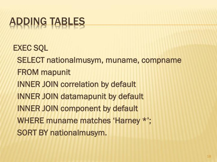 EXEC SQL