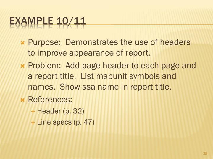 Example 10/11