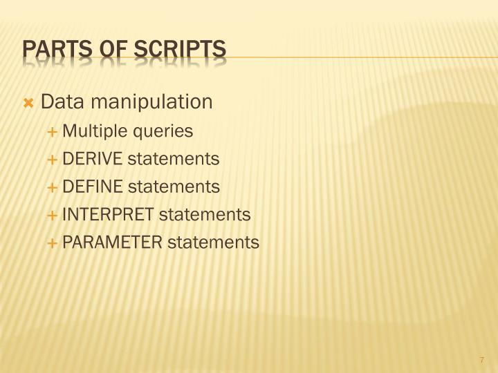 Parts of Scripts