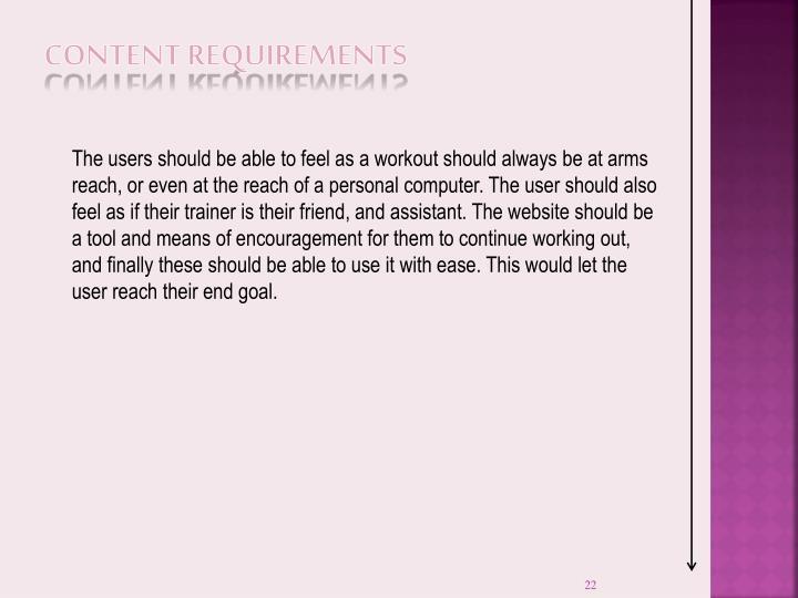 Content Requirements