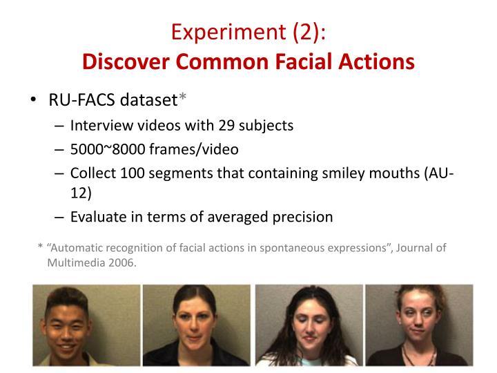 Experiment (2):