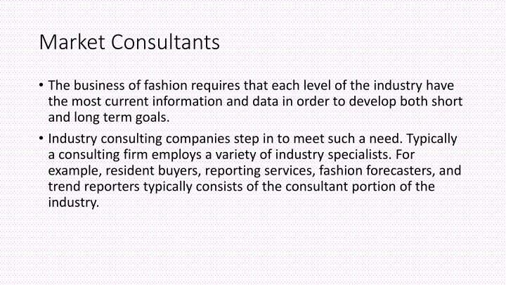 Market Consultants