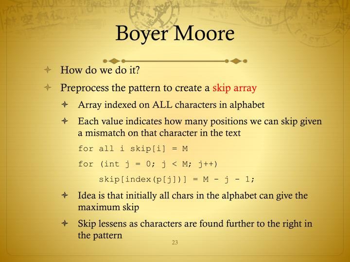 Boyer Moore