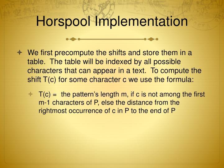 Horspool