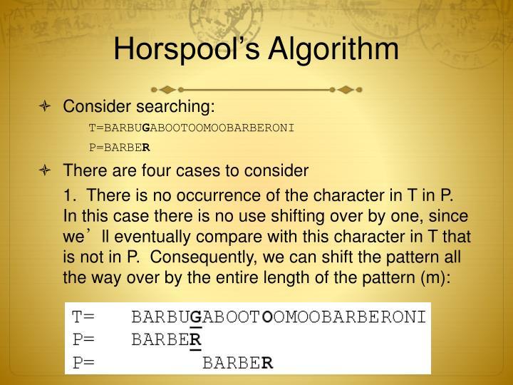 Horspool's