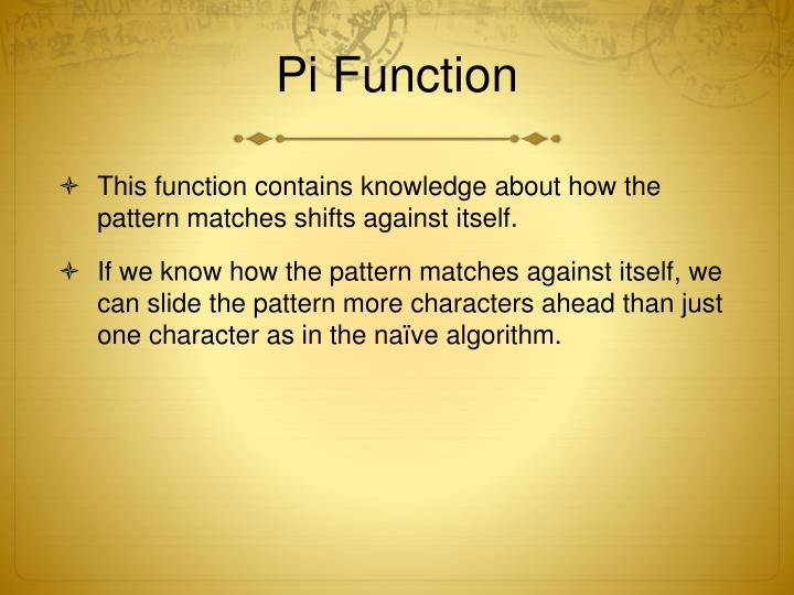 Pi Function