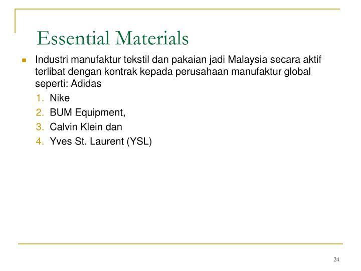 Essential Materials