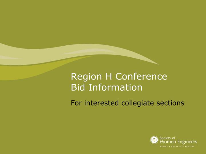 Region H Conference