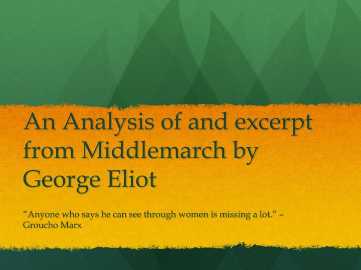 middlemarch george eliot essay