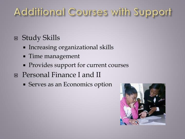 Additional Courses with Support