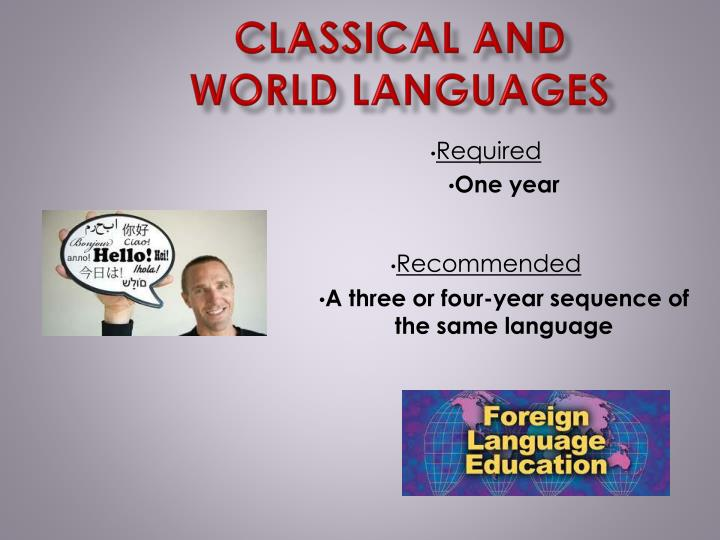Classical and World Languages