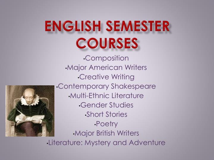 English Semester Courses