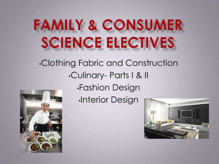 Family & Consumer Science Electives