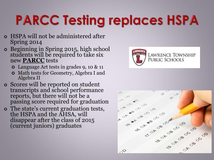 PARCC Testing replaces HSPA