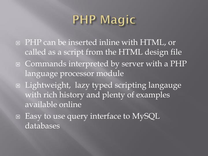 PHP Magic