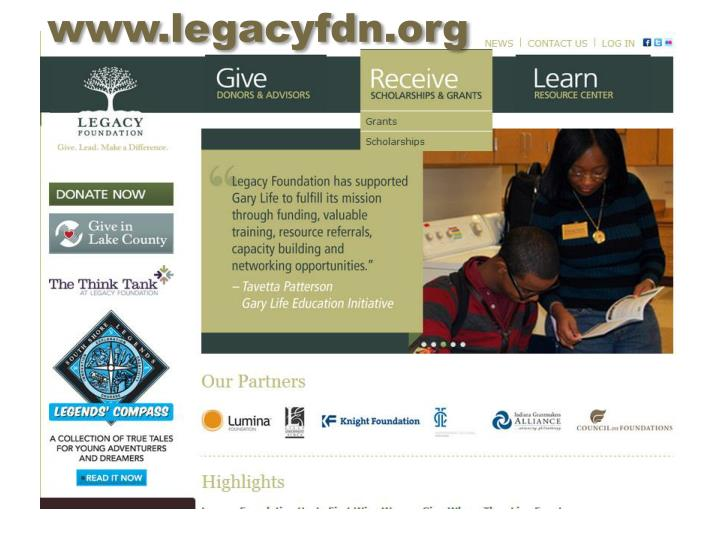 www.legacyfdn.org