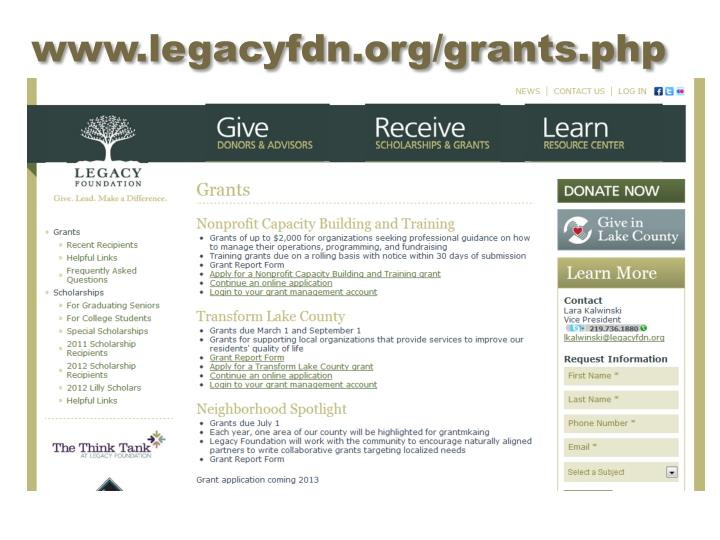 www.legacyfdn.org/grants.php