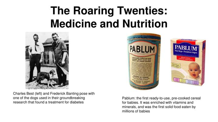 medicine of the roaring twenties The 1920s had many discoveries and innovations when it comes to medicine and science many of the things that we now take for granted were just getting their start.