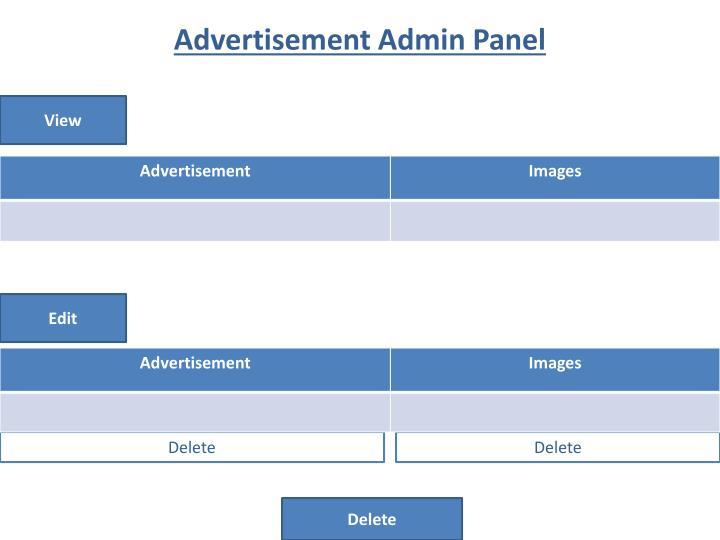 Advertisement Admin Panel